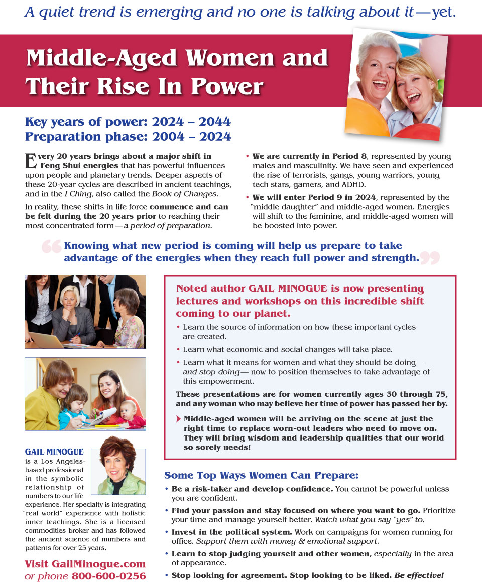 Middle-Aged Women and Their Rise In Power